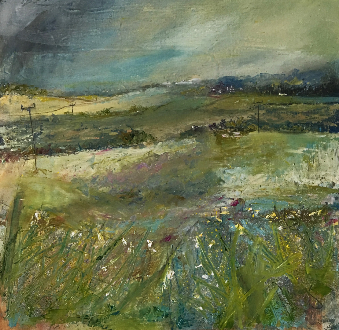 'A Country Stroll, Chapelton' Morag Stevenson Oil on Board
