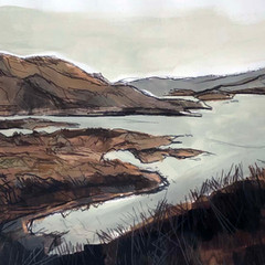 'Isle of Ornssay, Skye study' Jo McIntosh  Mixed Media on paper  70 x 54 £380