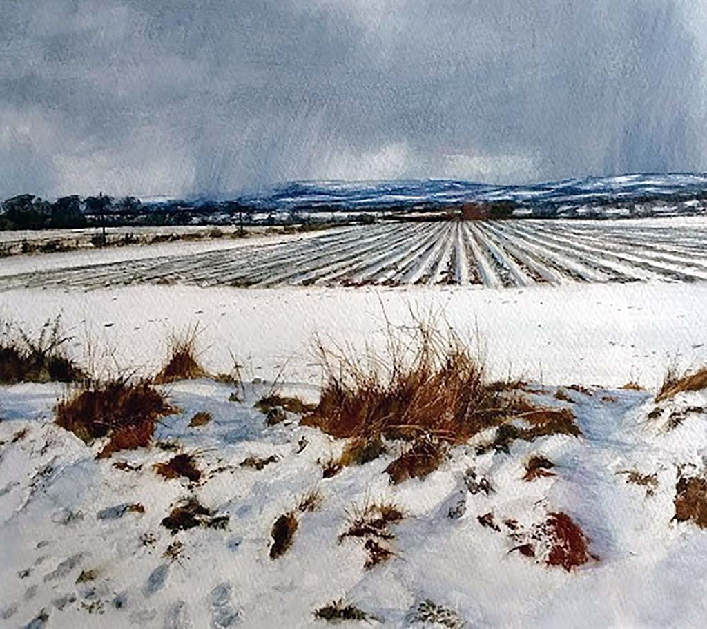 'Winter In The Mearns' David E Johnston RSW Watercolour 41x28cm £650