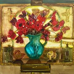 'See You Soon'  Morag Muir RSW  Acrylic on board 36 x 26cm  *SOLD*