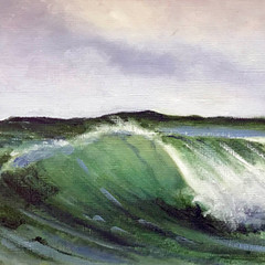 'Wave Study 2'  Hilary Gauci  Oil on linen board  20 x 15cm  *SOLD*