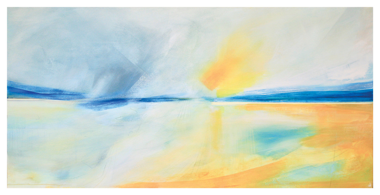 'Emergence' Victoria Wylie Acrylic on Canvas 122x60cm