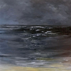 'Coastal Series, Twilight'  Gundra Nock  Oil on Canvas  81.5 x 81.5cm  £2400