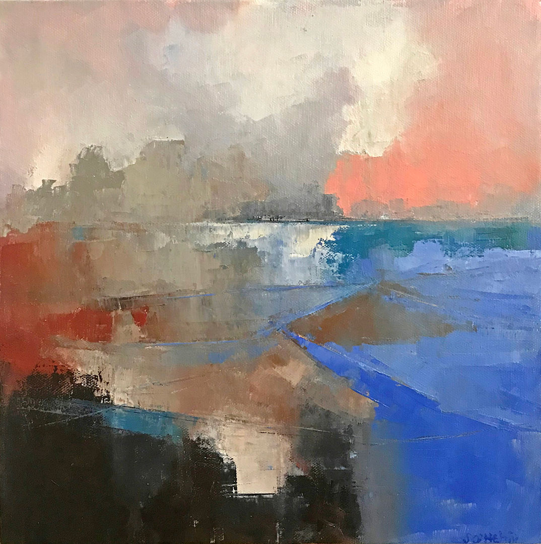 'South' Siobhan O'Hehir Oil on Canvas 30x30cm       £420