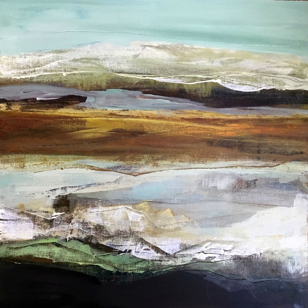 'The Carrick Hills' Dianne Gardner Acrylic on Board 40x40cm *SOLD*