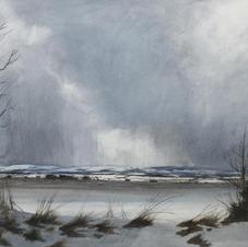 'Winter Tree-line, The Mearns' David E Johnstone RSW Watercolour