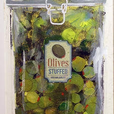 'Olives' John Hall   Mixed Media 18 x 34cm  £500