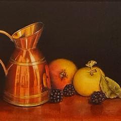 'The Little Copper Pot'  Hilary Gauci  Oil on linen board 46 x 36cm  £1150