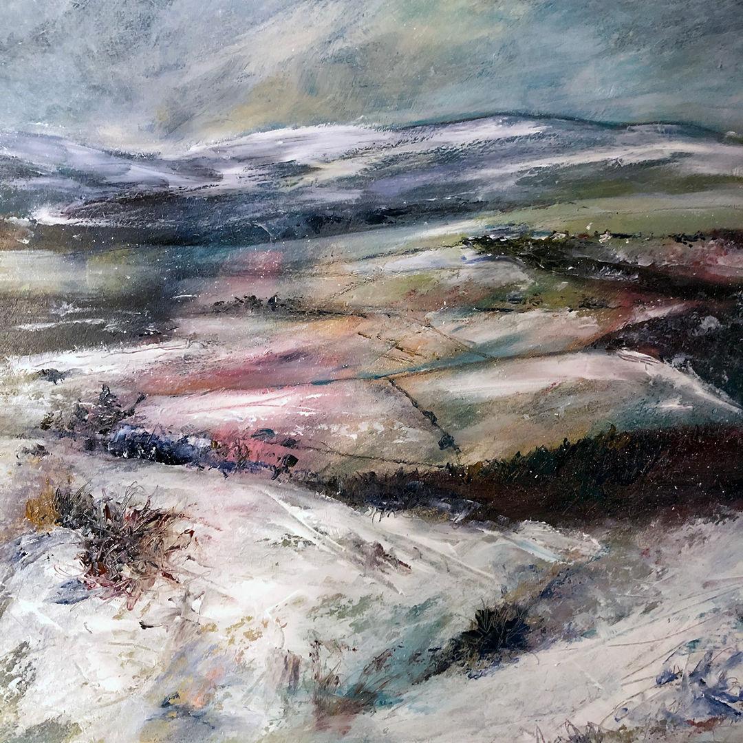 'A Winter Wonderland' Morag Stevenson Mixed Media on board 29x29cm £595