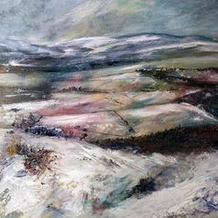 'A Winter Wonderland' Morag Stevenson Mixed Media on board  29 x 29cm