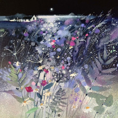 'Wild Field and Ailsa Craig' Emma S Davis RSW  Oil on Linen  58 x 58cm  £1600