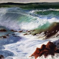 'Wave Study 6' Hilary Gauci Oil on linen board 20 x 15cm  £120