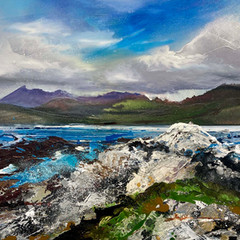 'The Cuillins from Ord' Shazia Mahmoud Oil on canvas 46 x 62cm £800