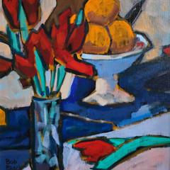 'Homage to Peploe 5' Bob Black Acrylic on canvas   38 x 46cm   £1450