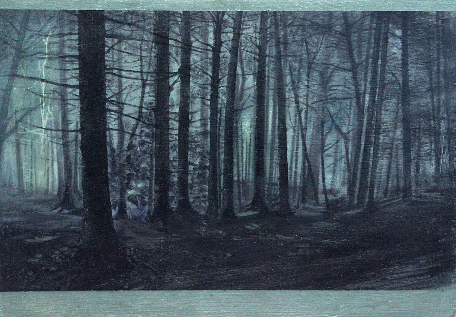 'Dark Woodland' Nerine Tassie  Mixed Media  21x15cm *SOLD*