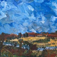 'Catterline Early October' Stuart Buchanan  Oil on board  56 x 91cm  £2900