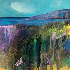 'West Coast Calling'  Morag Stevenson Mixed Media  20 x 20cm
