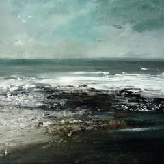 'Shoreline'  Frances Innes Acrylic on panel  30 x 40cm   *SOLD*