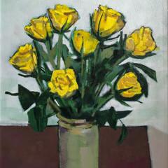 'Yellow Roses' Bob Black Acrylic on canvas   45 x 55cm   £1450