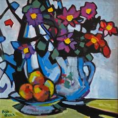 'Homage to Peploe' Bob Black Acrylic on canvas   40 x 40cm   £1200