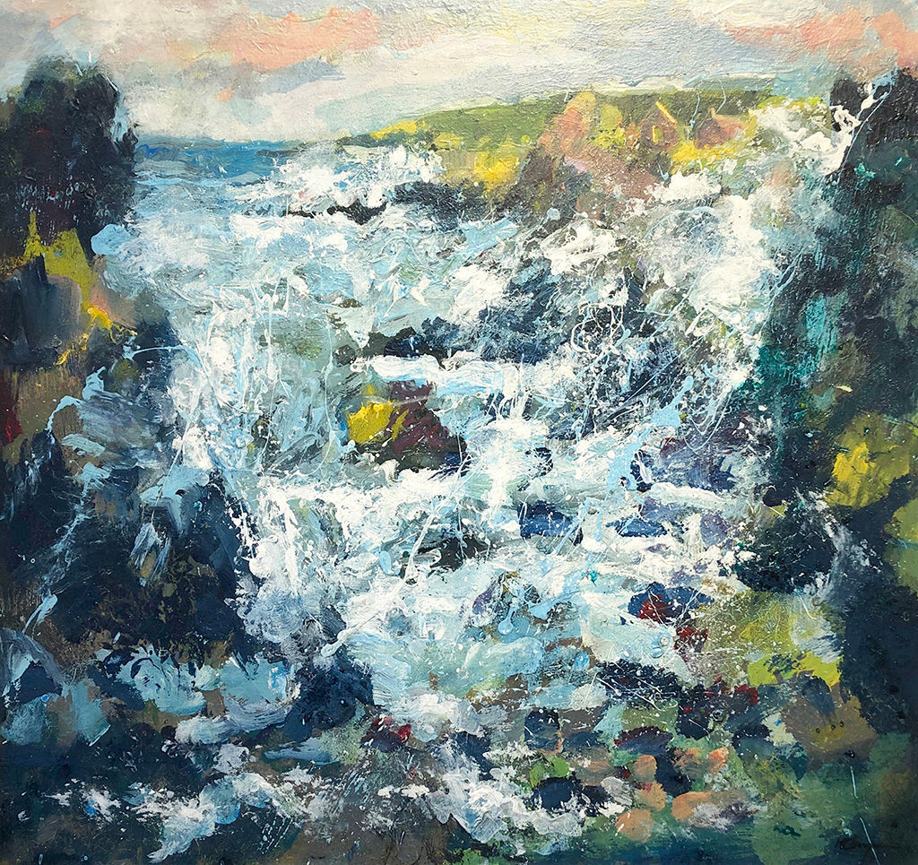 'Winter Sea, Donnie Point' John McClenaghen Acrylic on Canvas