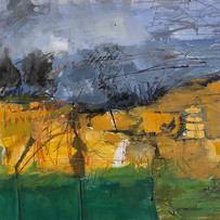 'Windbreak' Andrea Elles Acrylic on Paper 56x58cm £1900