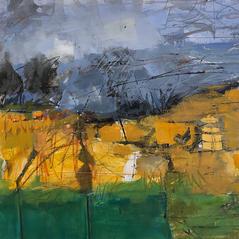 'Windbreak' Andrea Elles Acrylic on paper on board 56x58cm £1900