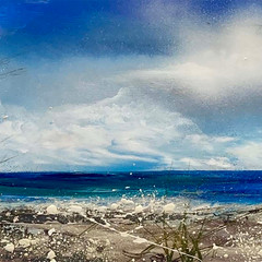 'In the dunes at East Head' Shazia Mahmood Oil on canvas 30 x 122cm £1300
