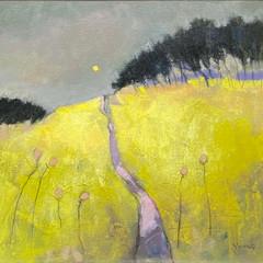 'Yellow Field'  Georgie Young  Acrylic on board  48 x 48cm  £750