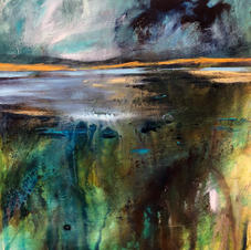 'A Place to just be ...'  Morag Stevenson Mixed Media  20 x20cm  £395