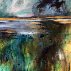 'A Place to just be ...'  Morag Stevenson Mixed Media  20 x20cm