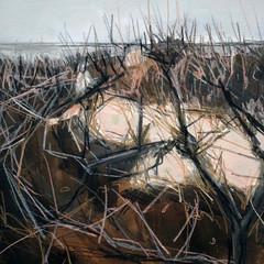 'Winter Dunes study 1'  Jo McIntosh  Mixed Media on paper  46 x 56cm  £290