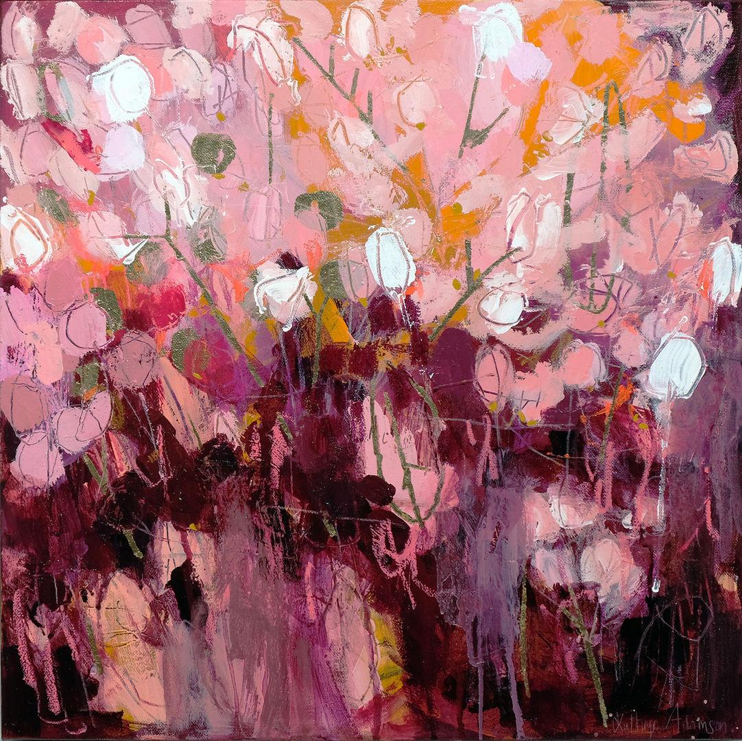 'Silver Pennies II'  Kathryn Adamson  Mixed Media on Canvas 50x50cm *SOLD*