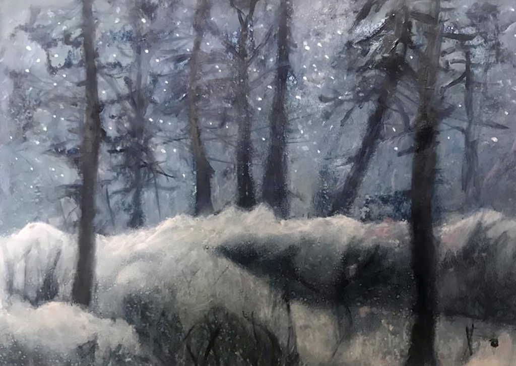 'Silent Snow' Lorraine Taylor Oil on Paper *SOLD*
