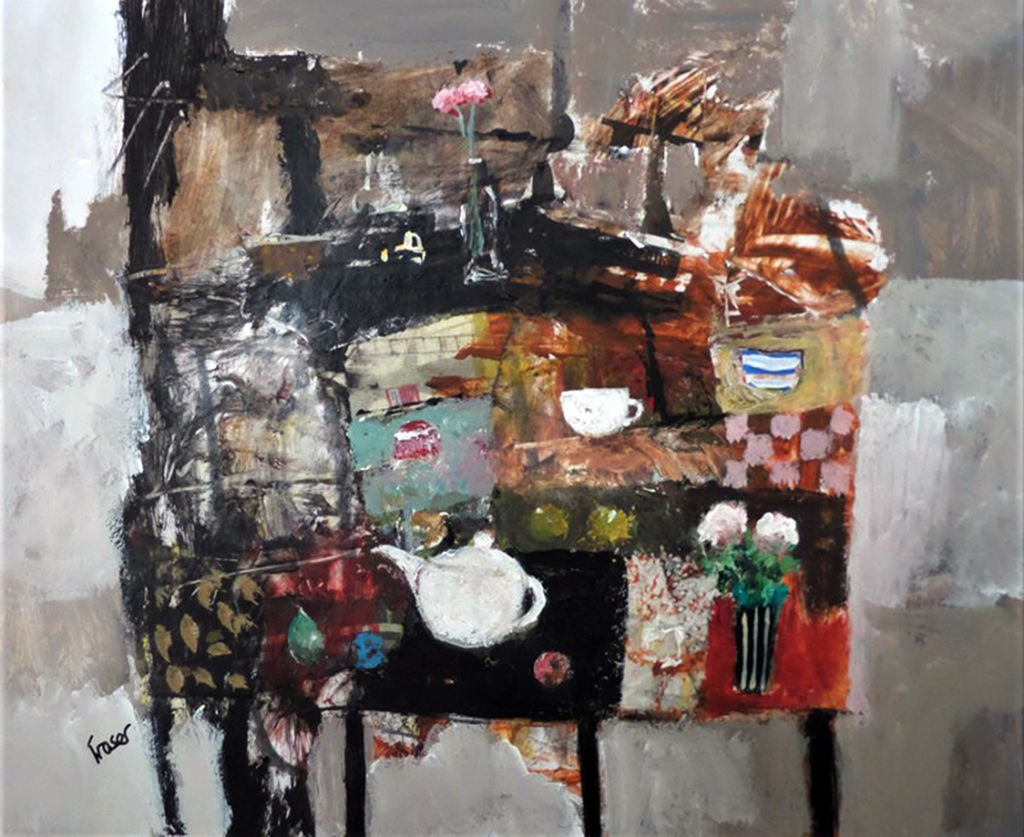 'Little White Teapot' James Fraser Acrylic on Paper
