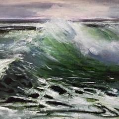 'Wave Study 3'  Hilary Gauci  Oil on linen board 20 x 15cm   *SOLD*
