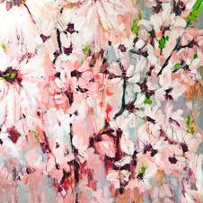 'Magnolia Blossom' Kathryn Adamson Mixed Media on canvas 100 x 120cm   £2450