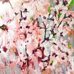 'Magnolia Blossom' Kathryn Adamson Mixed Media on canvas 100 x 120cm