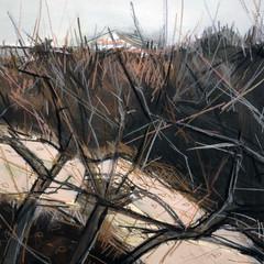 'Winter Dunes study 3'  Jo McIntosh  Mixed Media on paper  46 x 56cm  *SOLD*