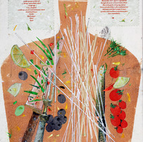 'A Simple Spaghetti' John Hall Mixed Media  29x41cm £500
