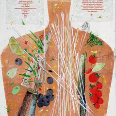 'A Simple Spaghetti' John Hall Mixed Media 29 x 41cm