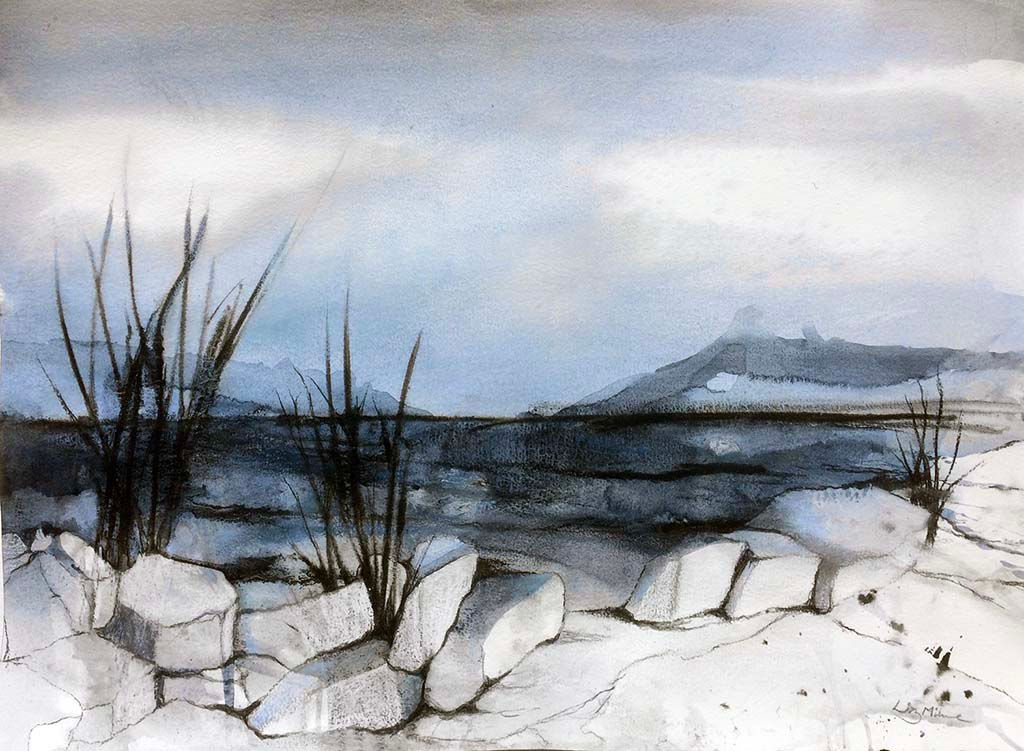 'Moonlight' Liz Milne Watercolour 60x40cm £450