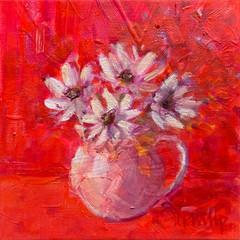 'Wee Cream Jug'  Jackie Philip  Oil on canvas  23 x 23cm £780
