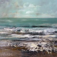 'Moody North Sea'  Frances Innes Acrylic on panel   30 x 30cm  £450