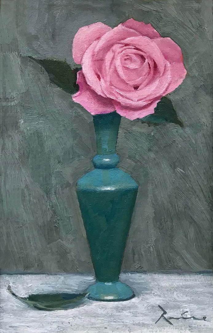 'Rococco Rose' John Paul Raine Oil on Panel 22x32cm £680