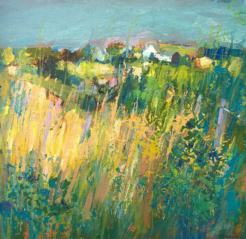 'Coastal Cornfields, High Summer' John McClenaghen Acrylic on Canvas