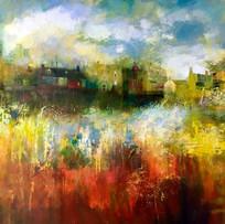 'Autumn Storm' John McClenaghen  Acrylic on Canvas 100x80cm £1250
