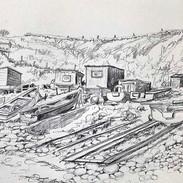 'Gone Fishing, Old Portlethen Shore' Mor
