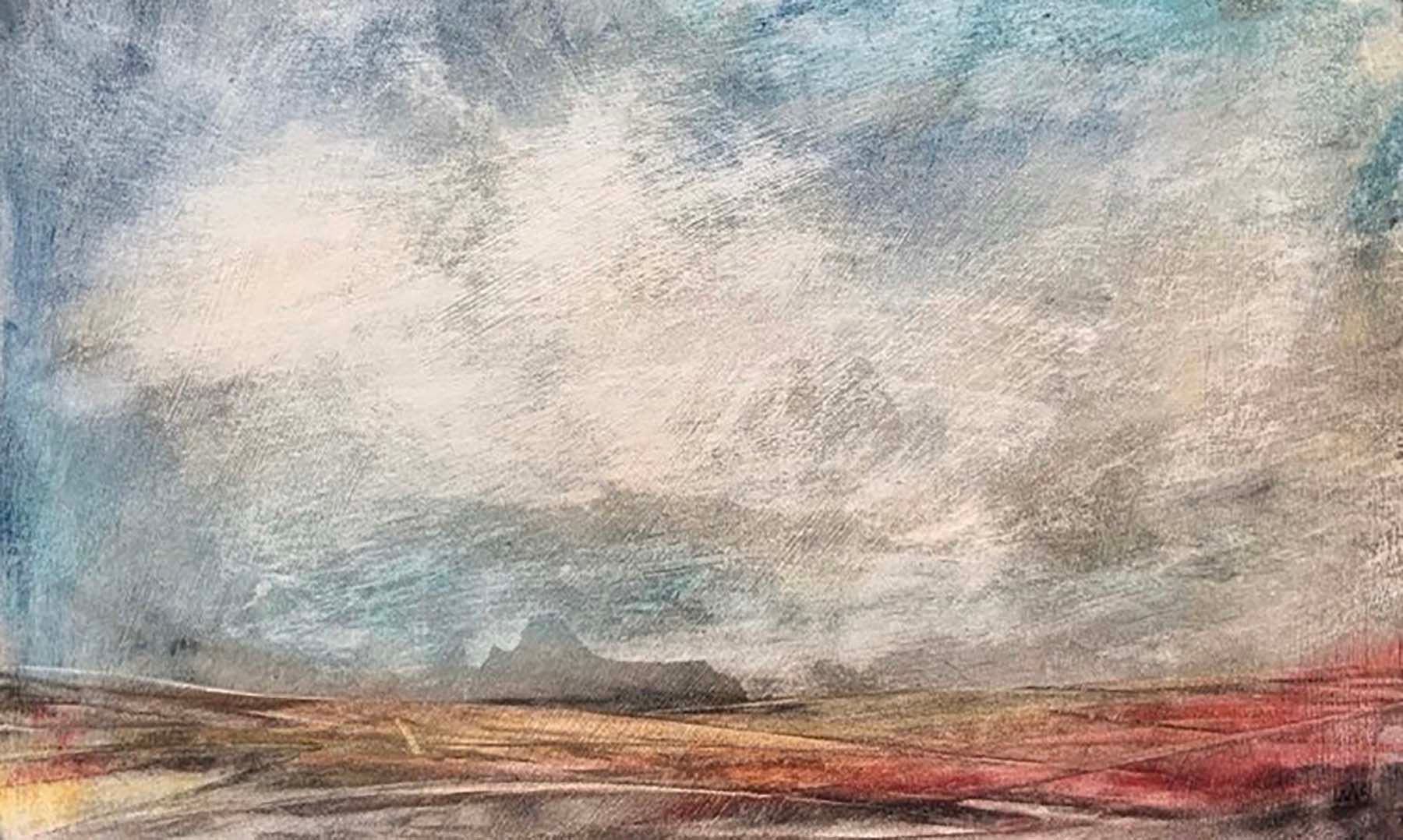 'Sketch I' Morag Smith Acrylic on Board 25x12cm *SOLD*