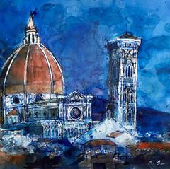 'Duomo' Ann Oram RSW Watercolour and Ink 56x40cm £800